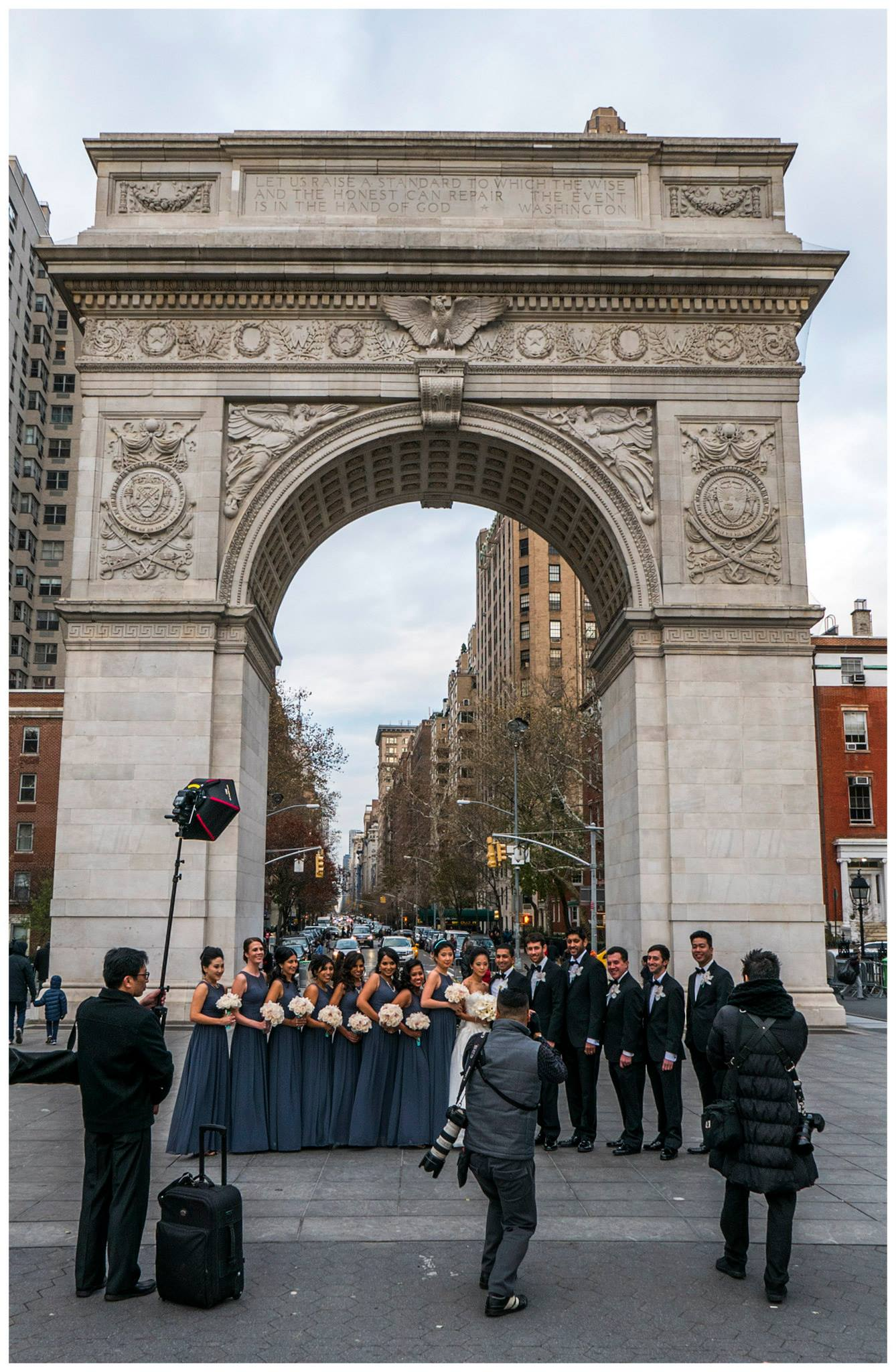 unknown wedding party in washington square author walker clay