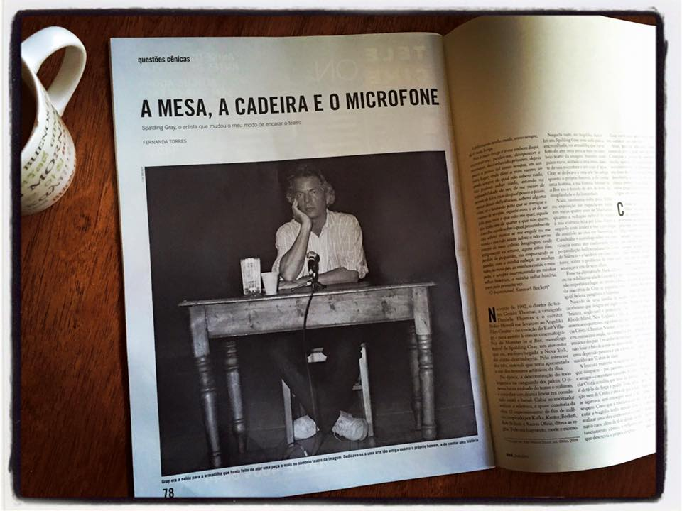 spalding gray october issue of the brazilian magaz walker clay