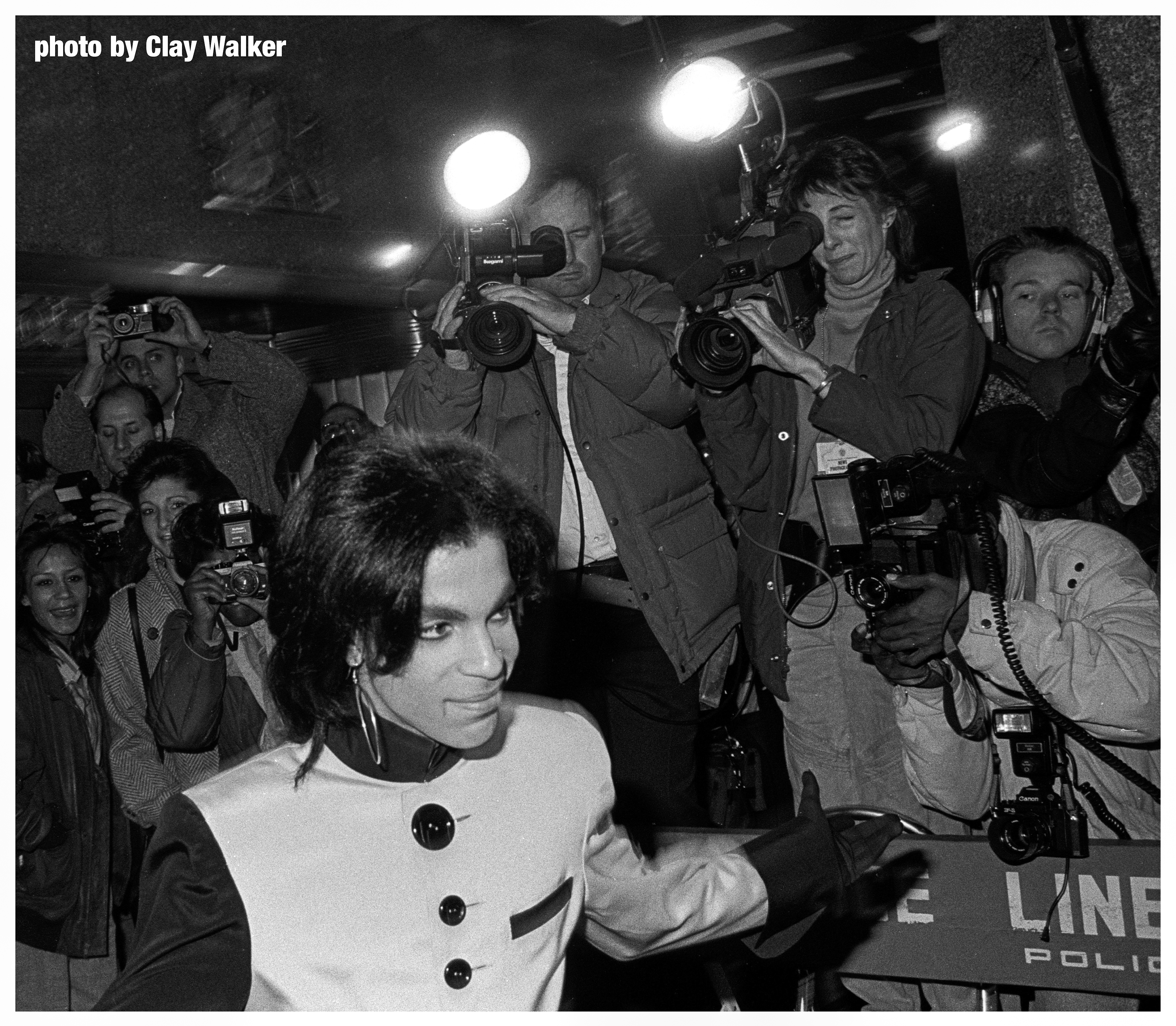 prince at the grammy awards sneaking by media walker clay