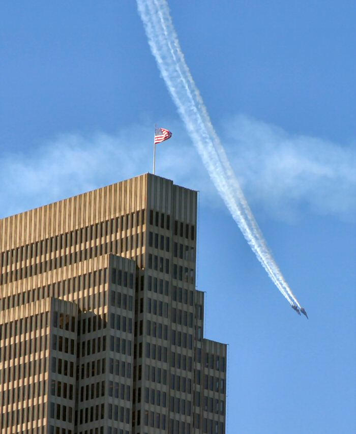 blue angels over embarcadero building author papa papai ken