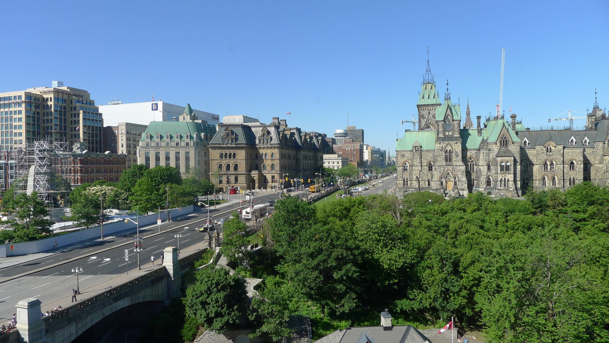 ottawa view from chateau lauier rd fl room window tai martin