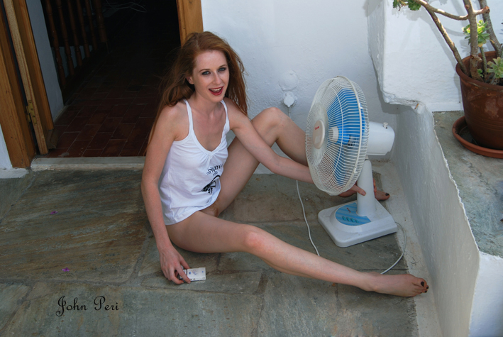 backstage shoot on a hot summer day author peri john