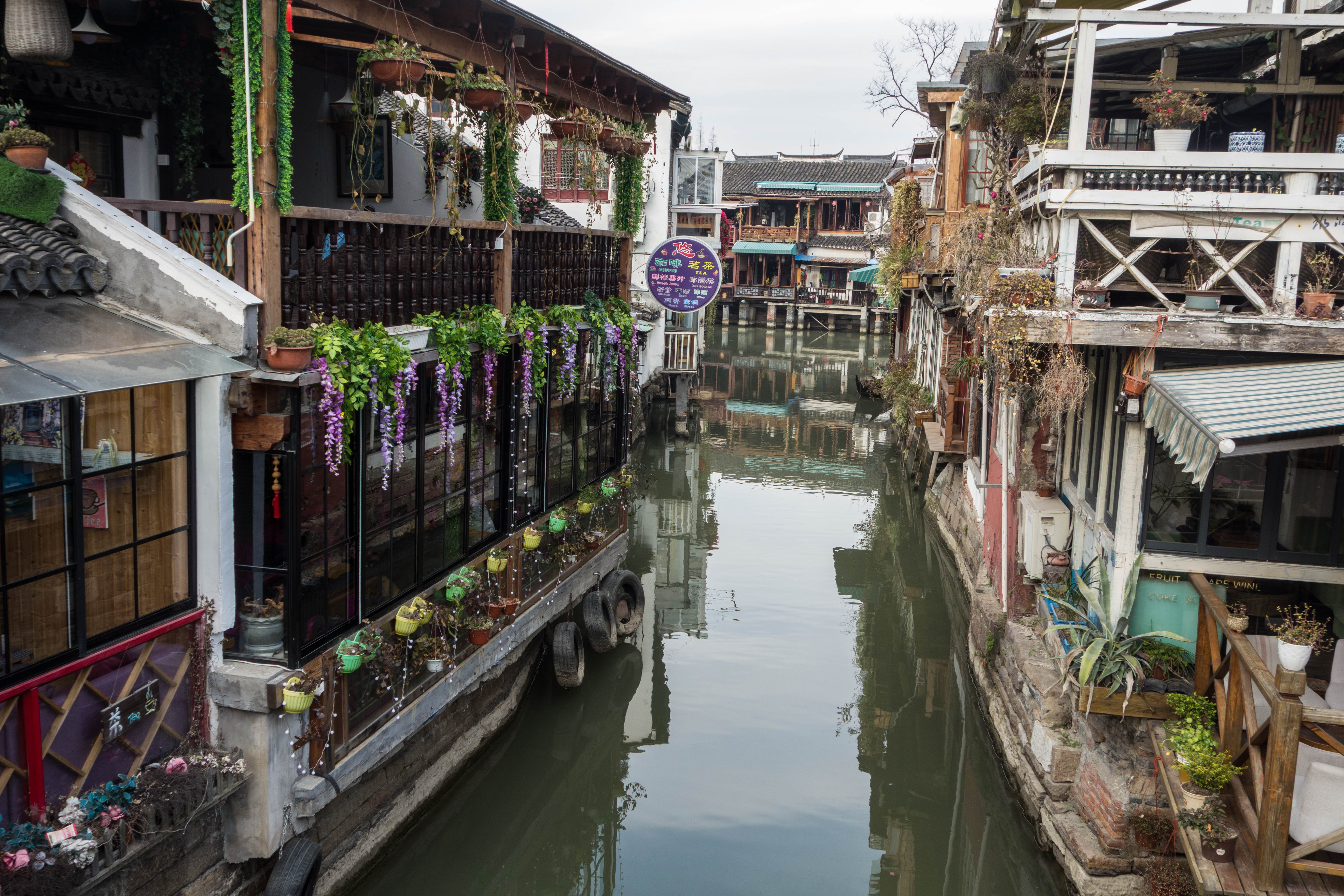 canal in a watertown author yin tom near shangha
