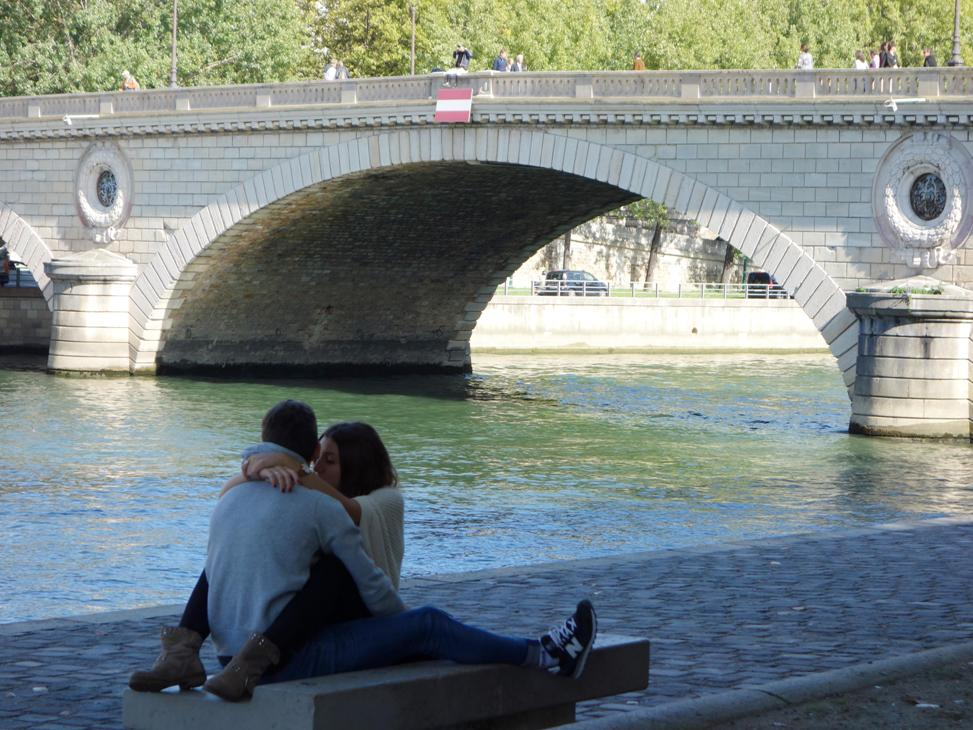couple near paris bridge author dreizler bob
