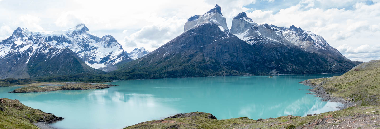 panorama view of cuernos del paine author yin tom