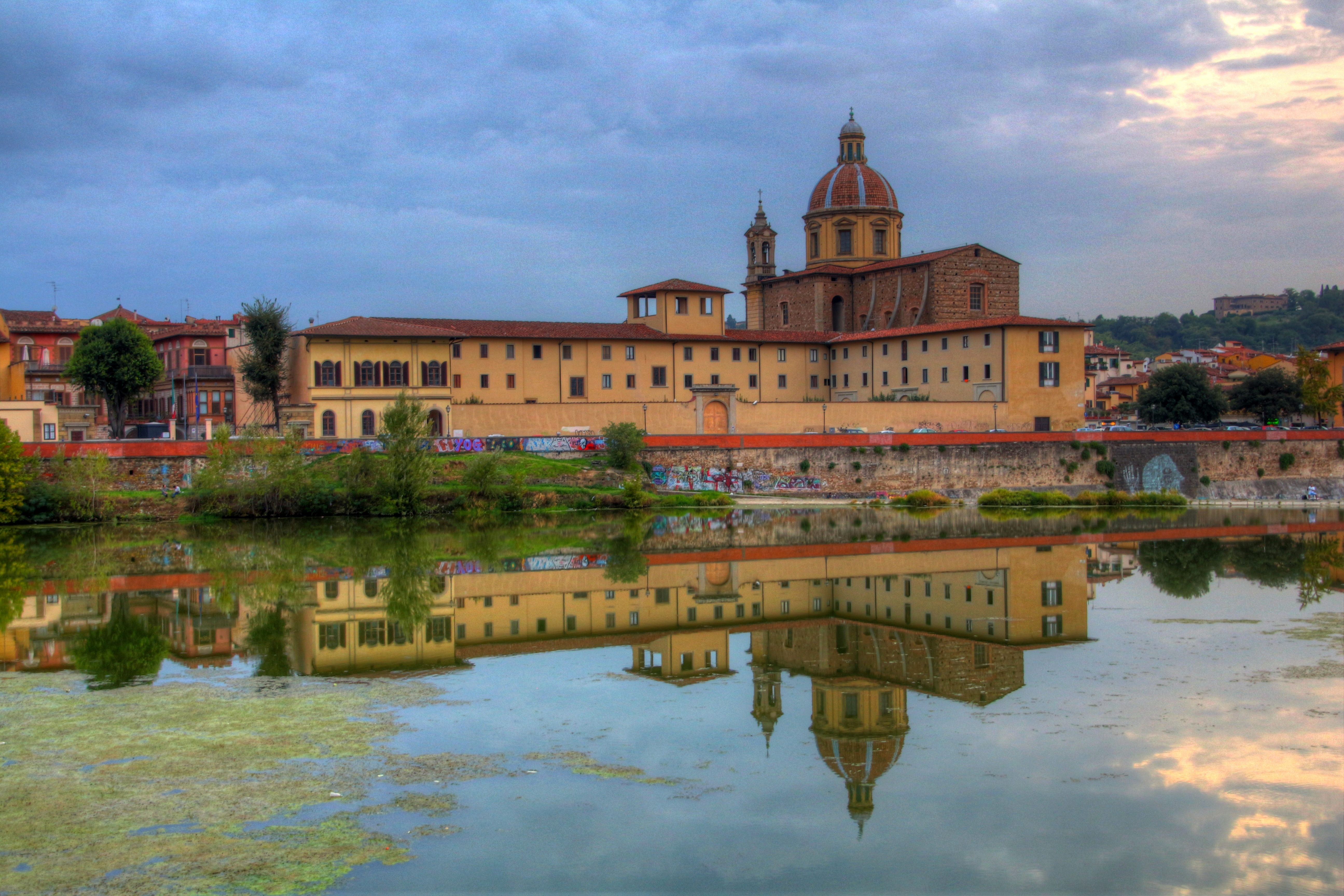 florence reflection with graffiti author lucke ch charlie