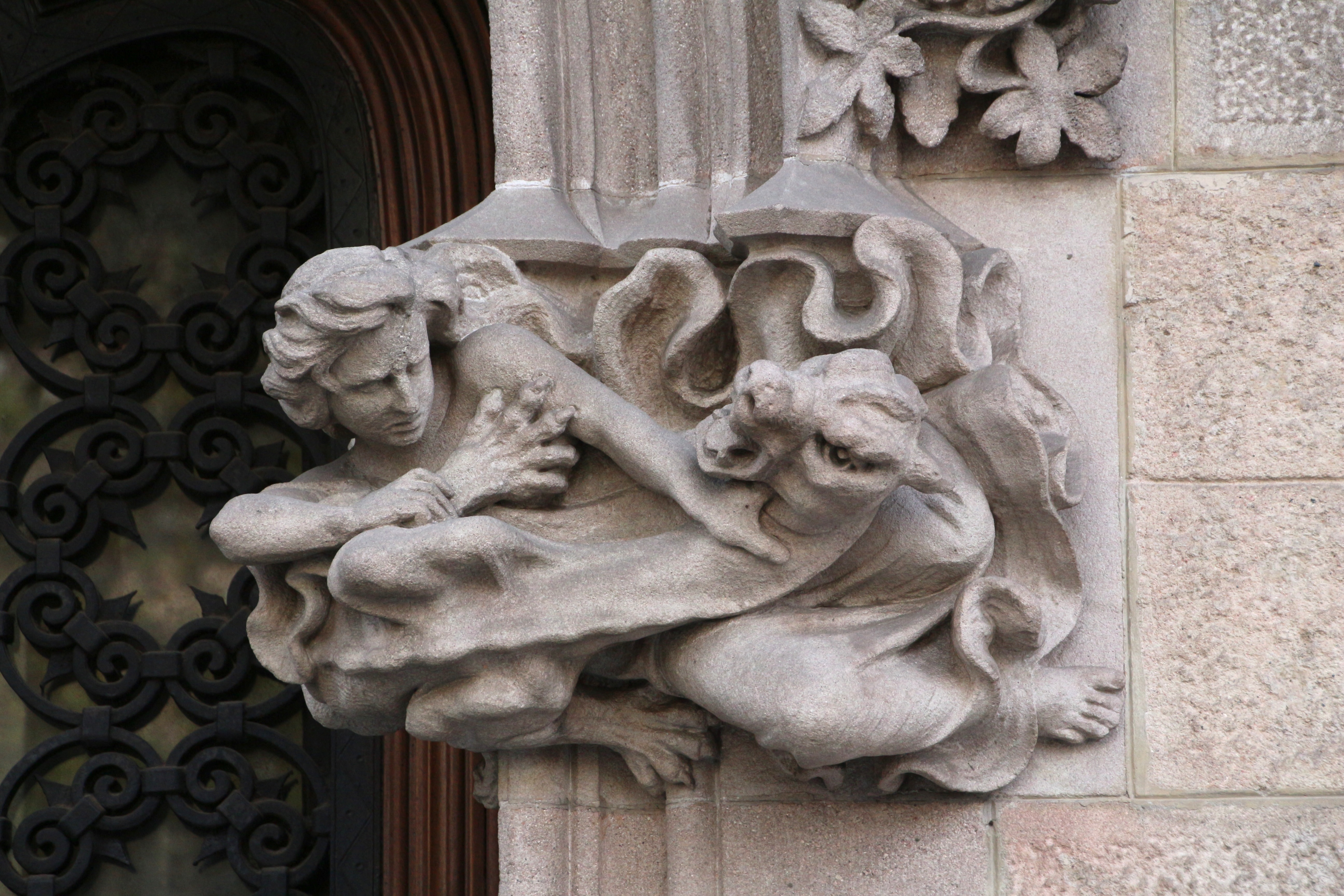 adornment author lucke charlie on a building in