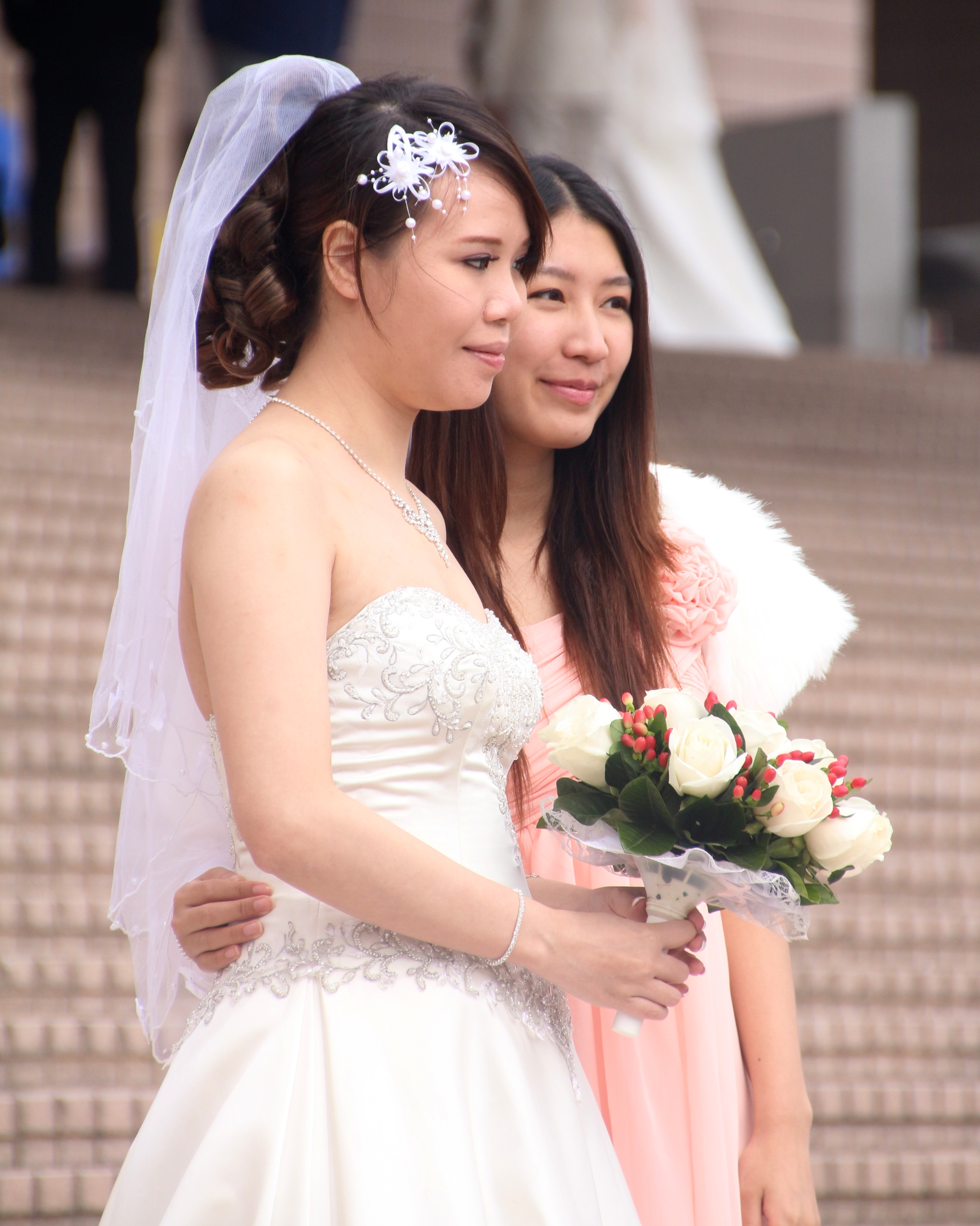 bride and bridesmaid author lucke charlie