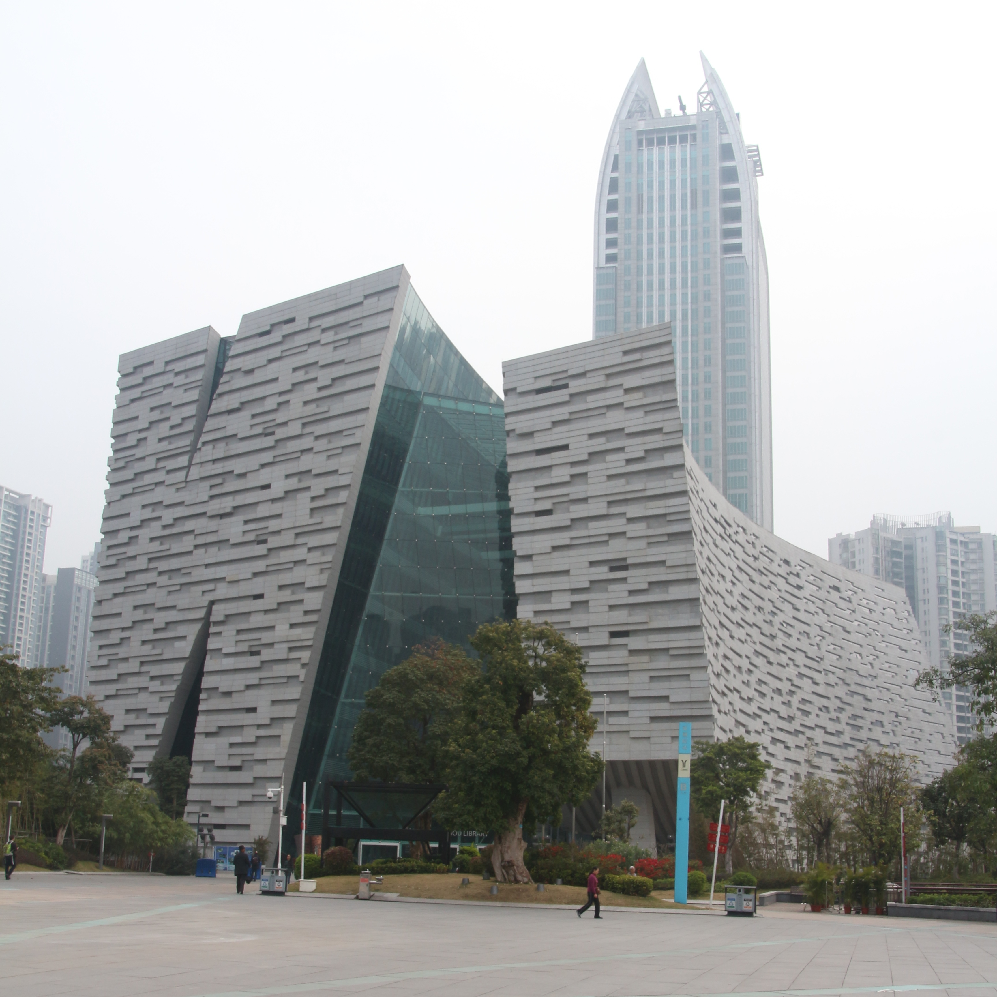 library with skyscraper author lucke charlie