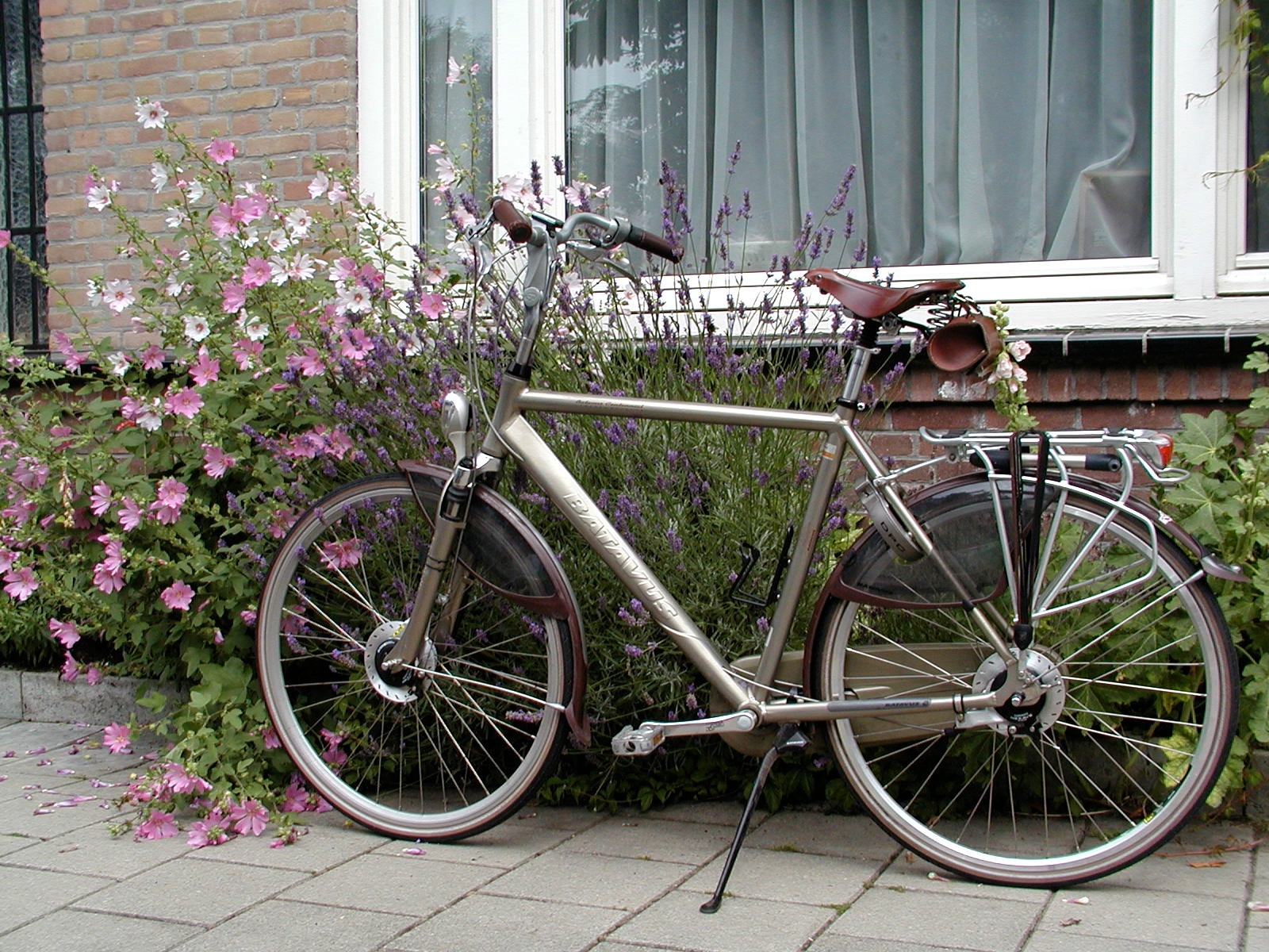a new bike author lucke charlie parked next to