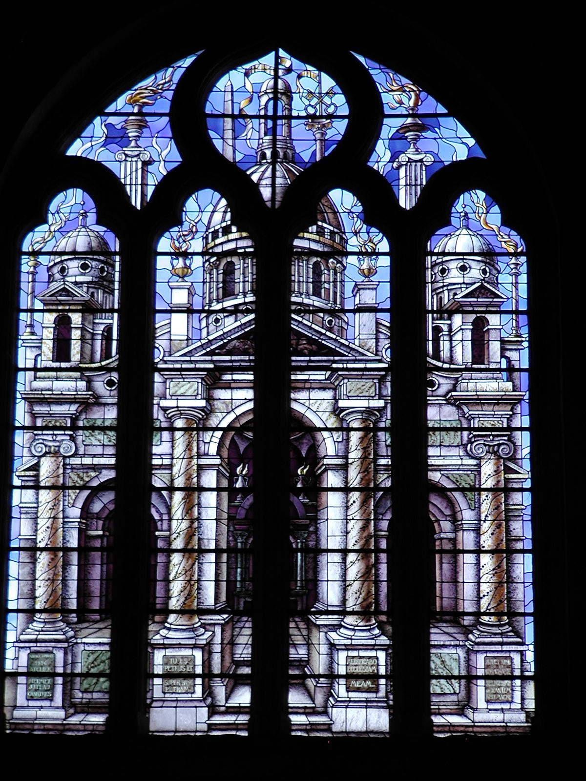 architecture depicted in stained glass author luc lucke charlie