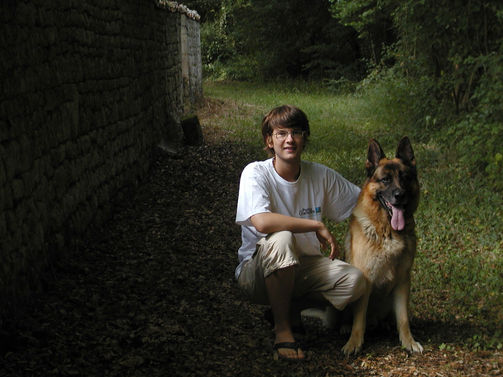 a boy and his dog author lucke charlie posed for