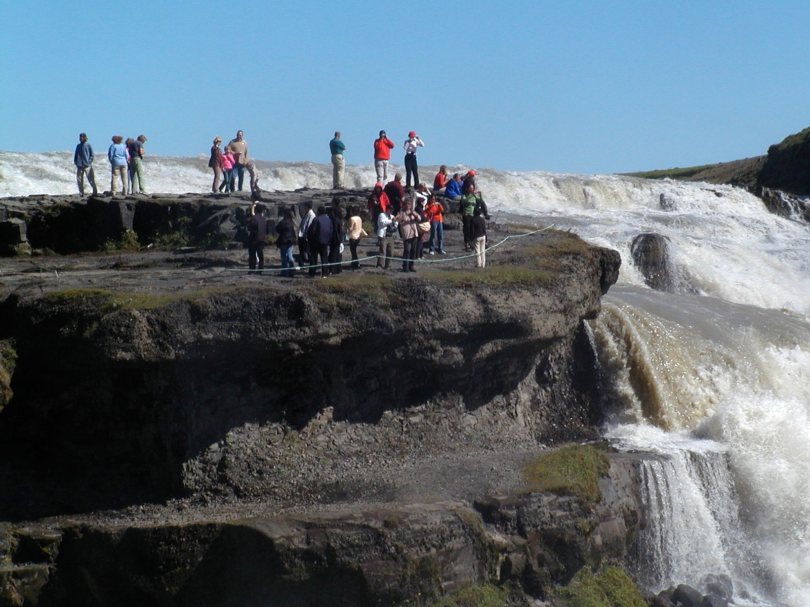 gulfoss falls view point author lucke charlie