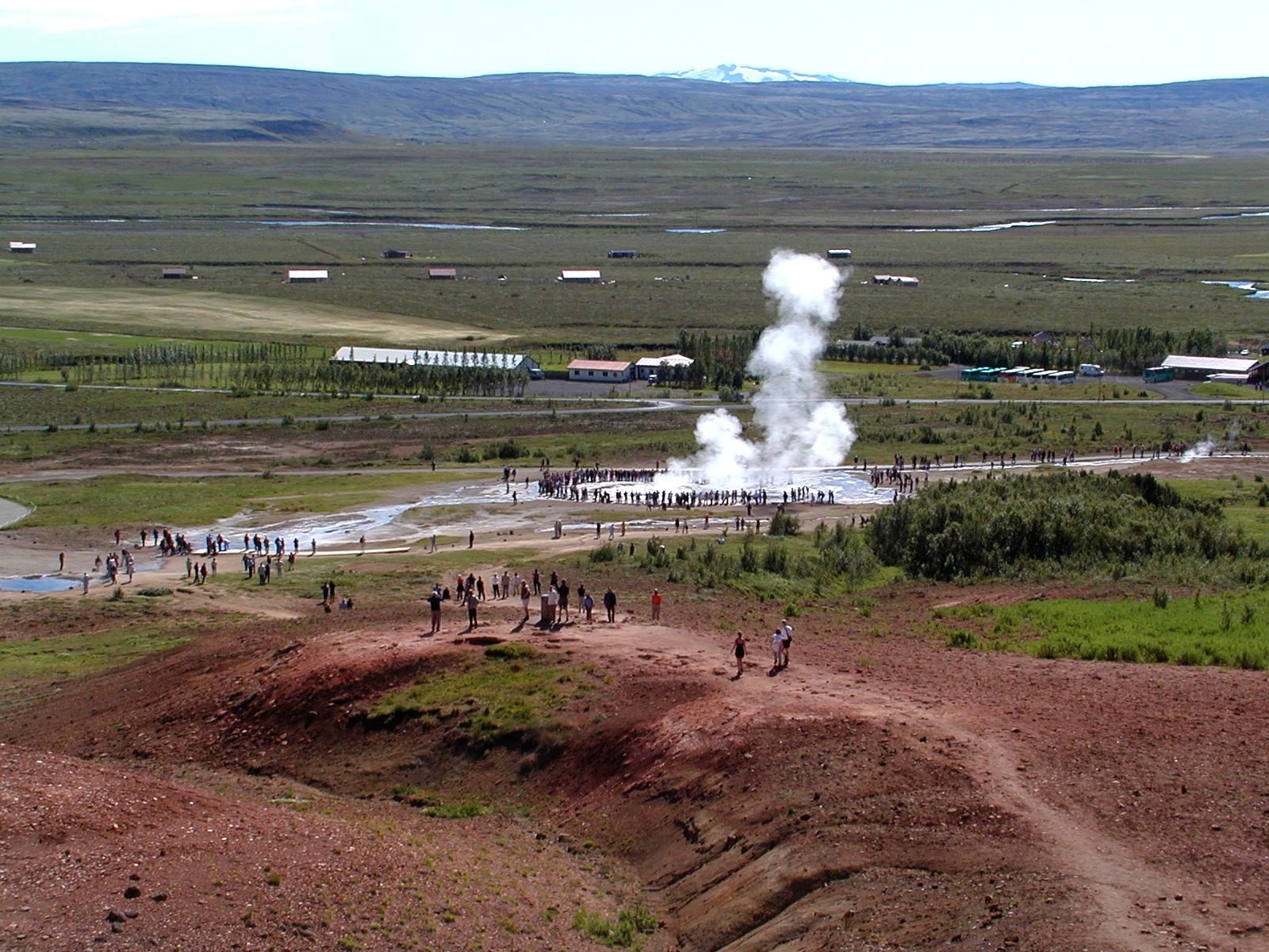 geysir with a glacier in the background author lu lucke charlie