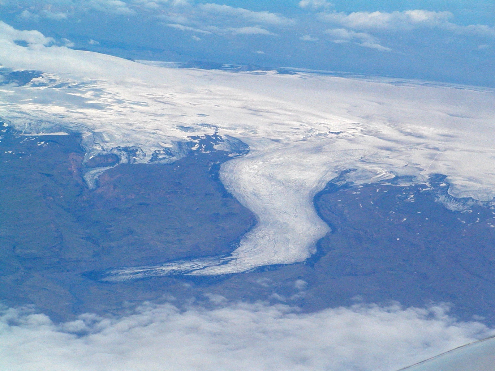 iceland glacier fro the air author lucke charlie