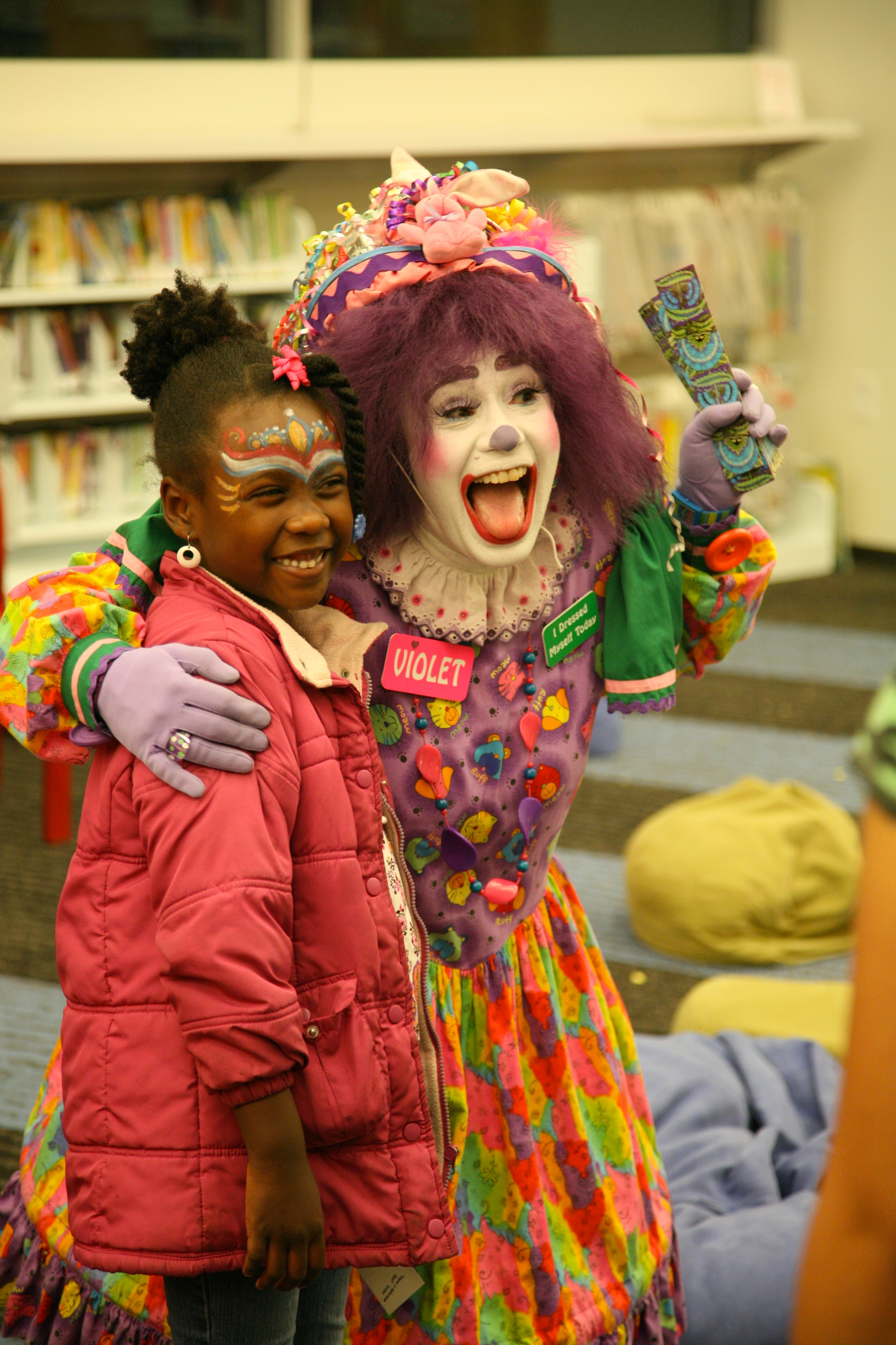 clowning around at the library author lucke charl charlie