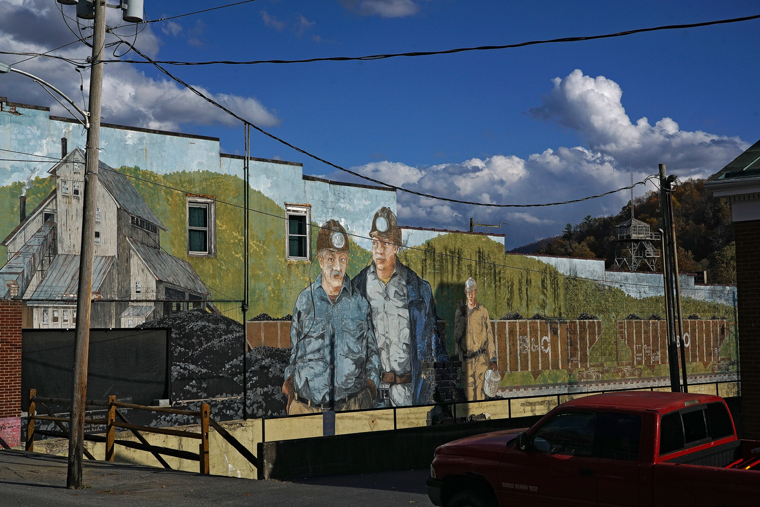 mural richwood wv author sava gregory and verena