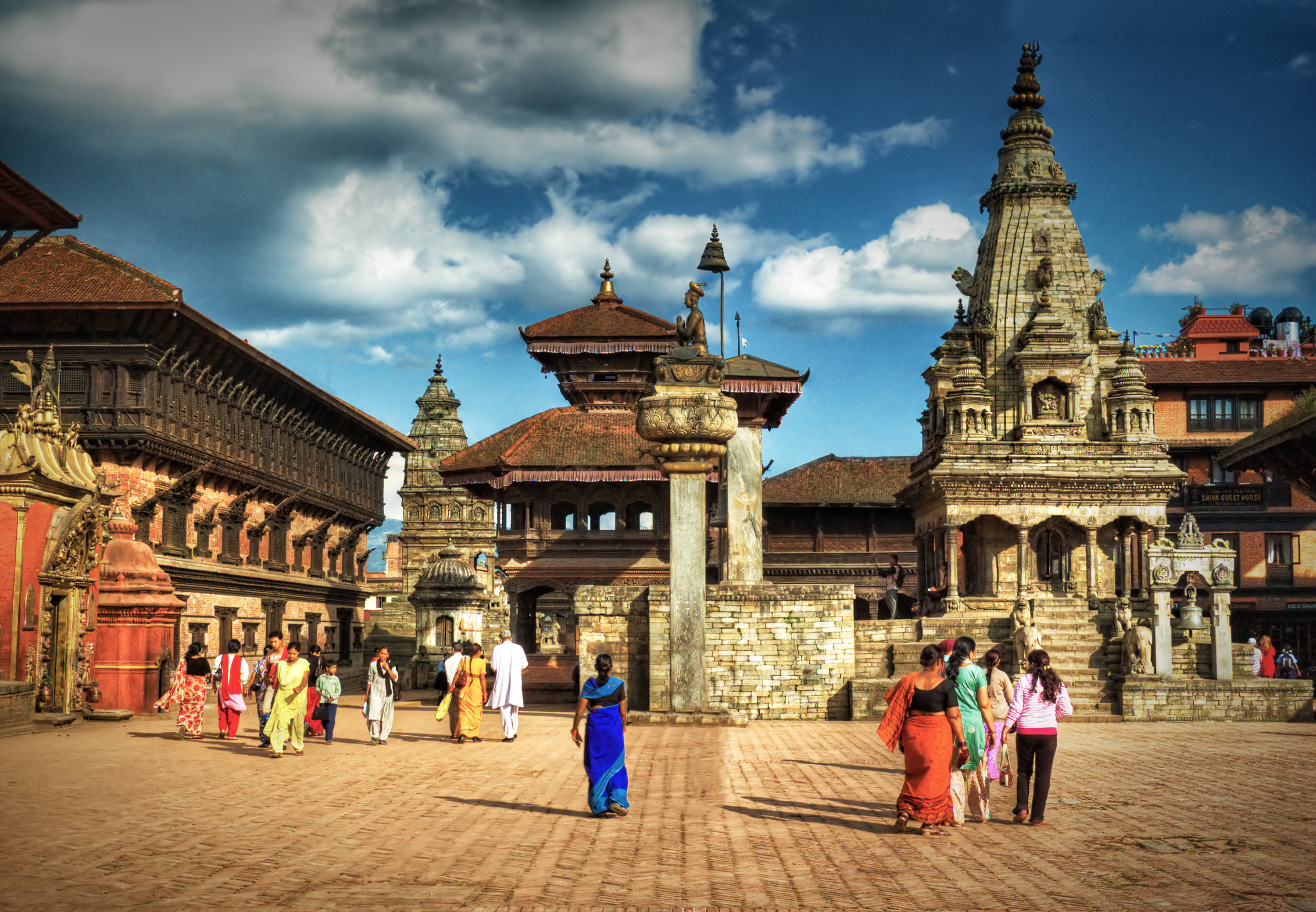 temple square bhaktapur nepal author bloy bruce