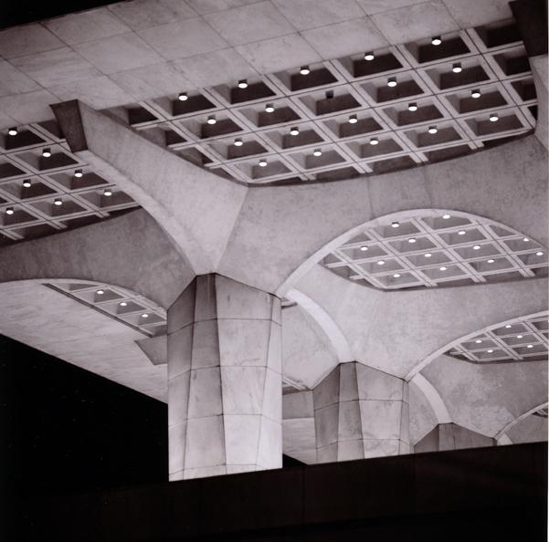 cultural ed cntr terrace coffered ceiling author hull ray