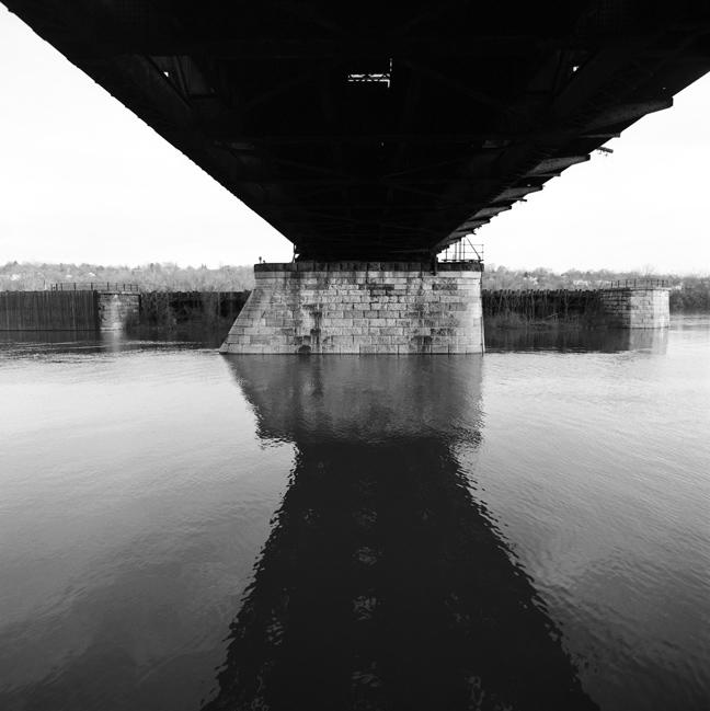 nyc railroad bridge over hudson west pier author hull ray