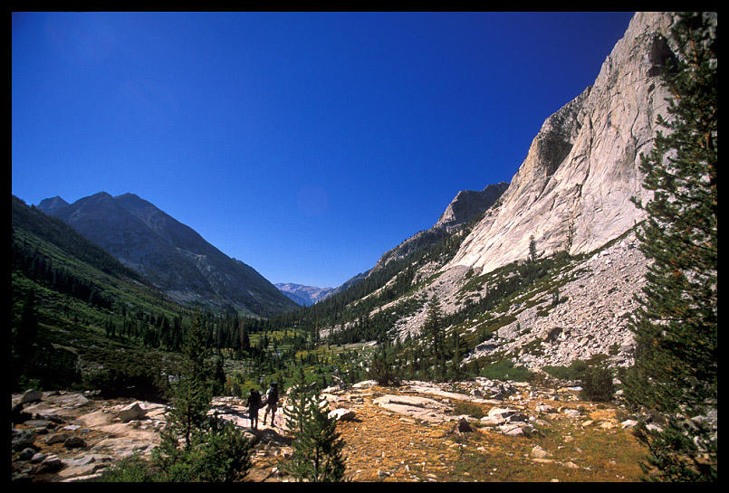 view of little pete meadow from jmt author ernst brian