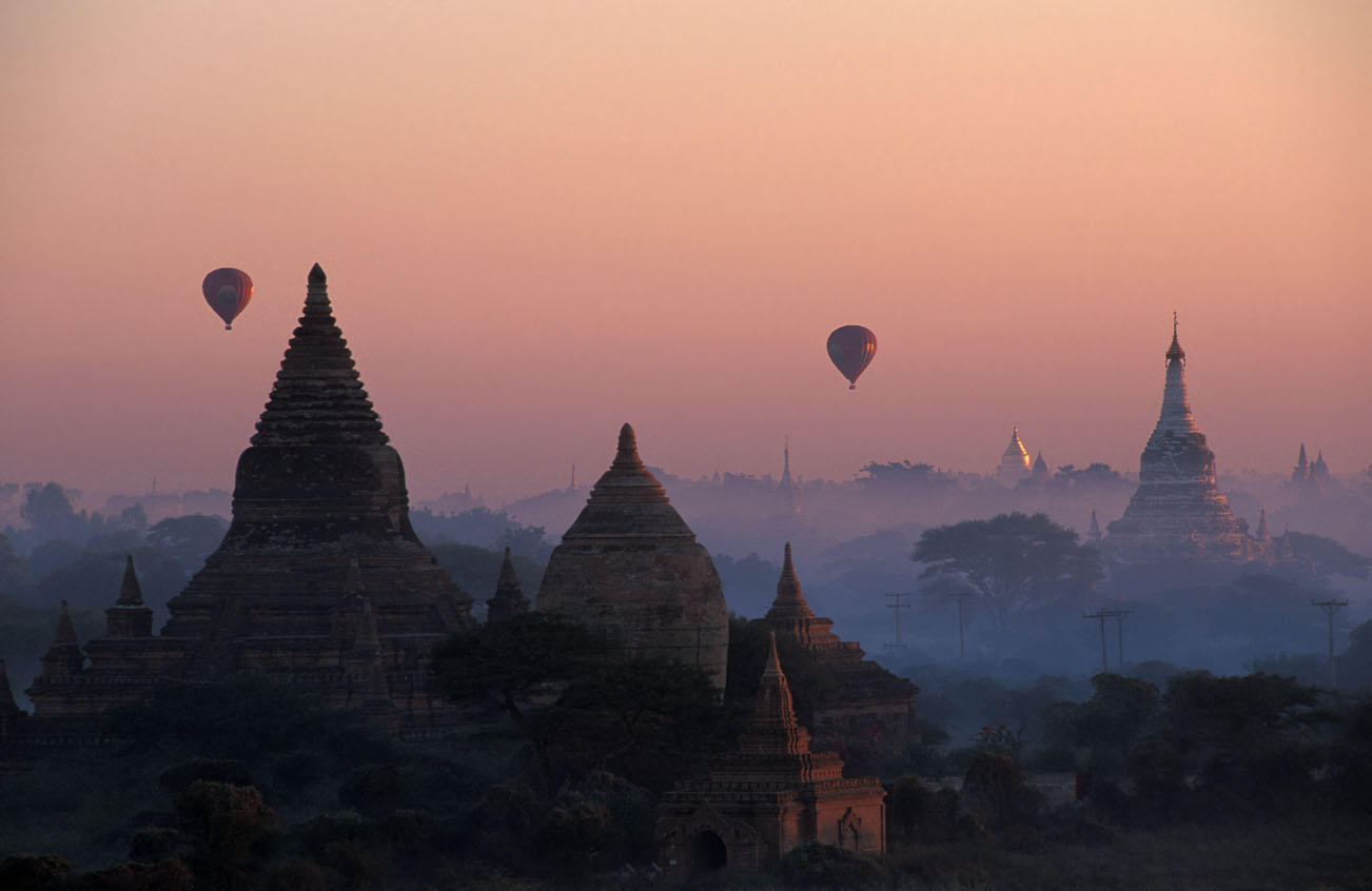 balloons over bagan author h michael