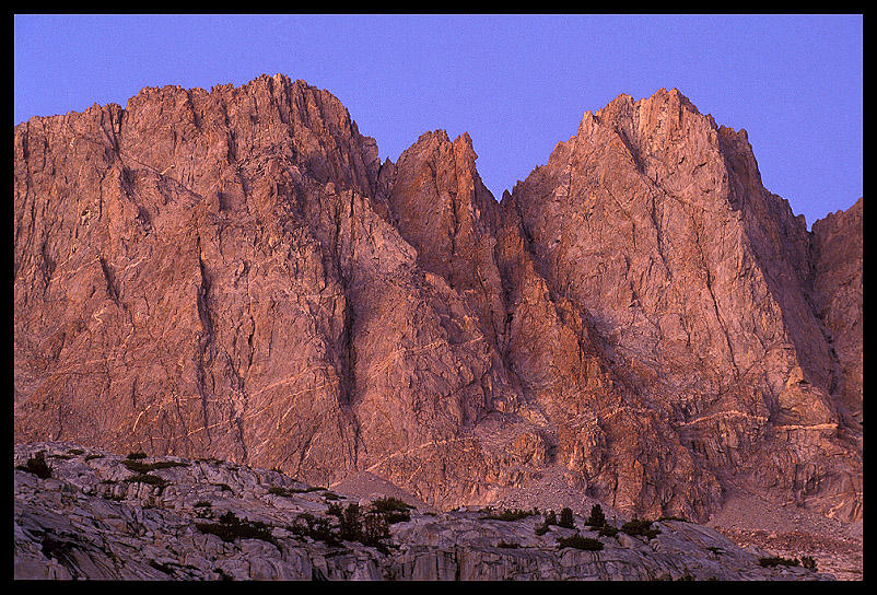 alpenglow on palisade peaks above lower l ernst brian
