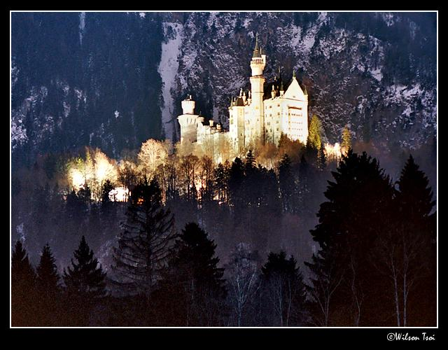 neuschwanstein at night author tsoi wilson