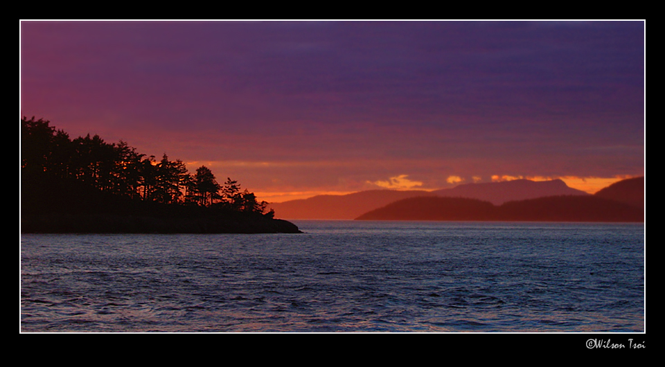 sunset at deception pass island autho tsoi wilson