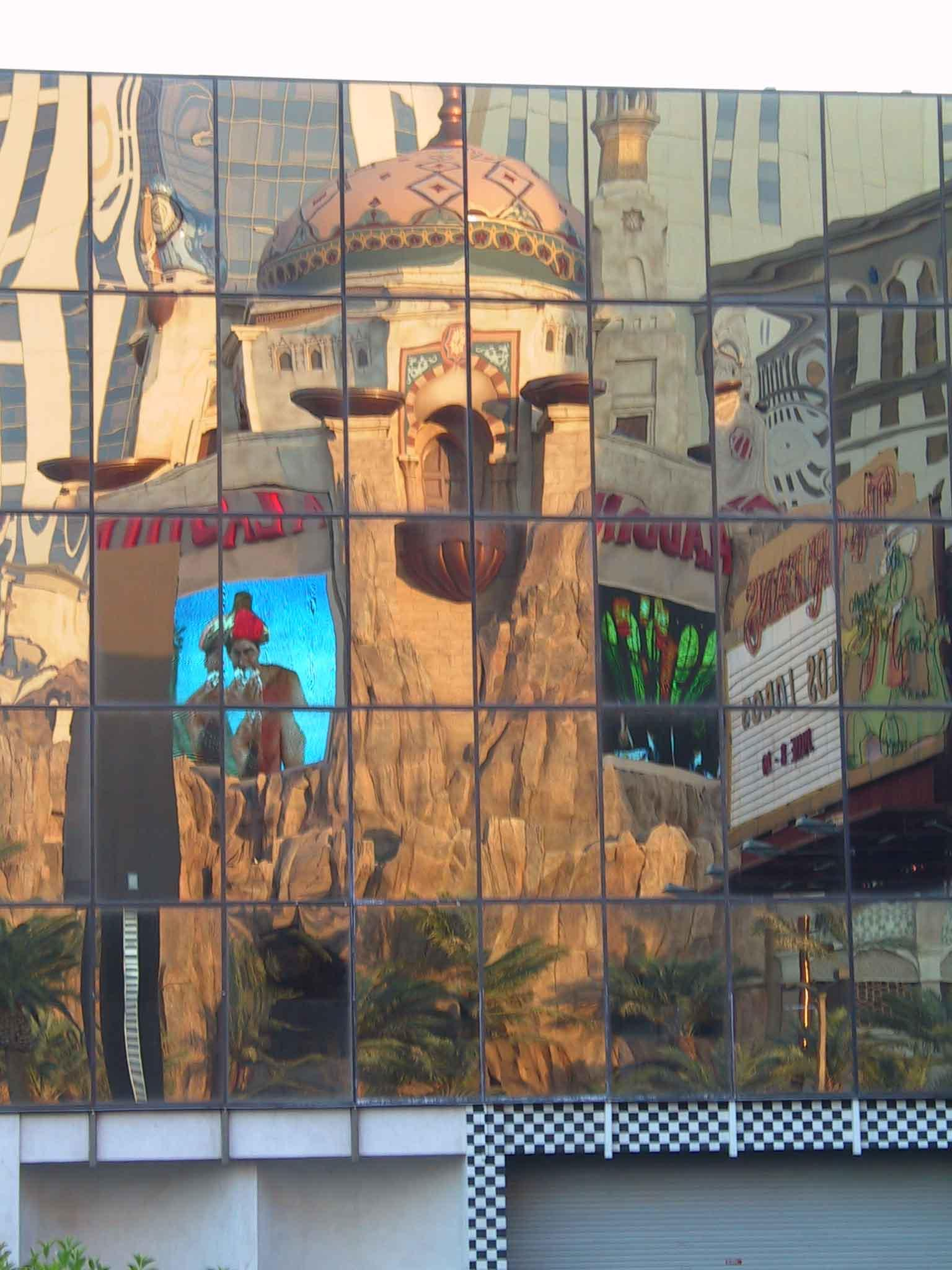 reflection of the alladin las vegas blvd autho nicholls kyle