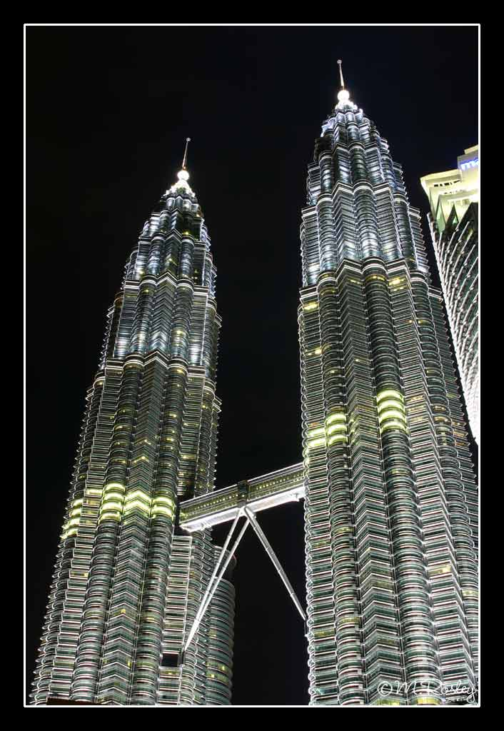 twin tower at night author omar mr