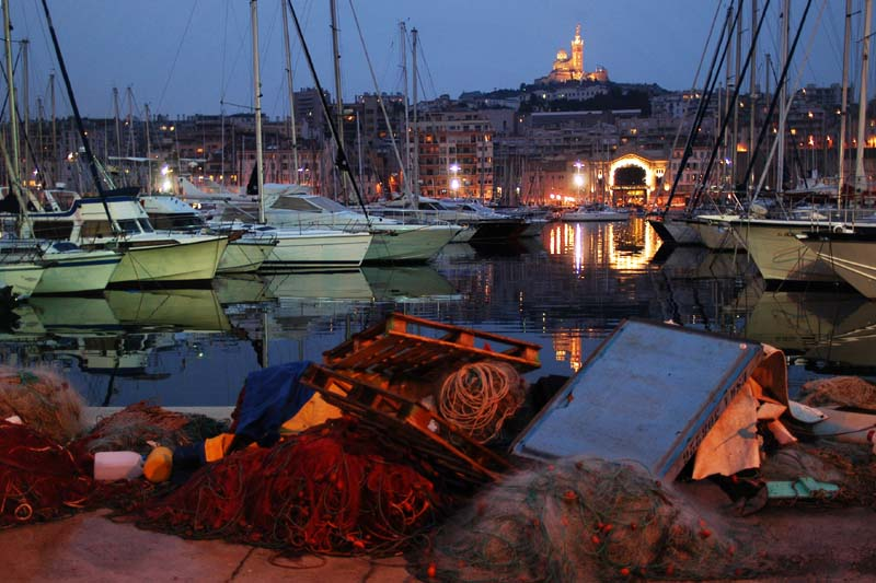 marseille harbour by night author dupin eric