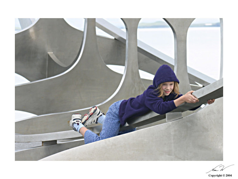 girl on viking ship sculpture reykjavik author schlecht nem w