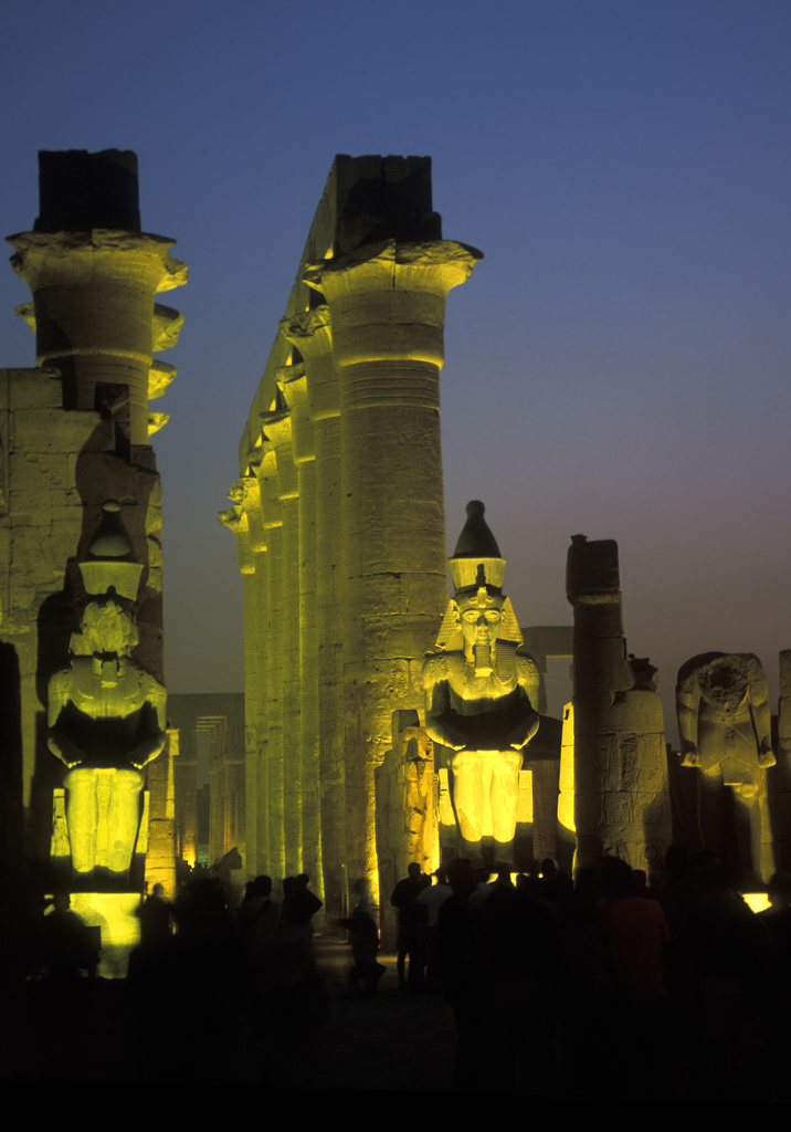 luxor temple at night egypt author h michael