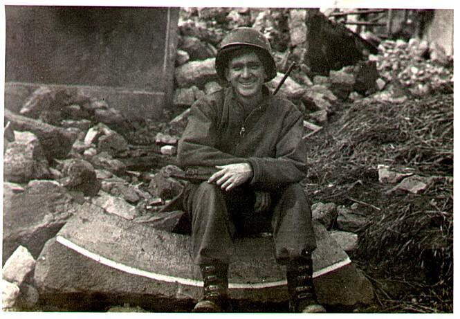 my dad pfc loy westbrook just after a battle aut greg