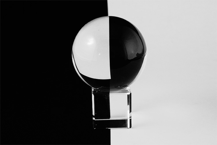 crystal ball in b w author gordley james