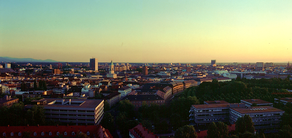 karlsruhe panorama of the centre and west pa bostenaru maria