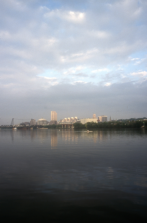 rowers early morn on hudson at albany author hull ray