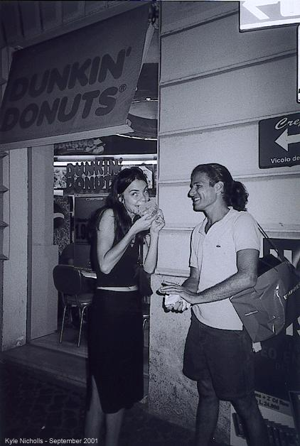 dunkin dougnuts at the trevi fountain author nic nicholls kyle