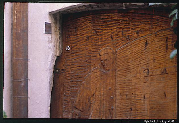 street detail wooden door carving author nichol nicholls kyle