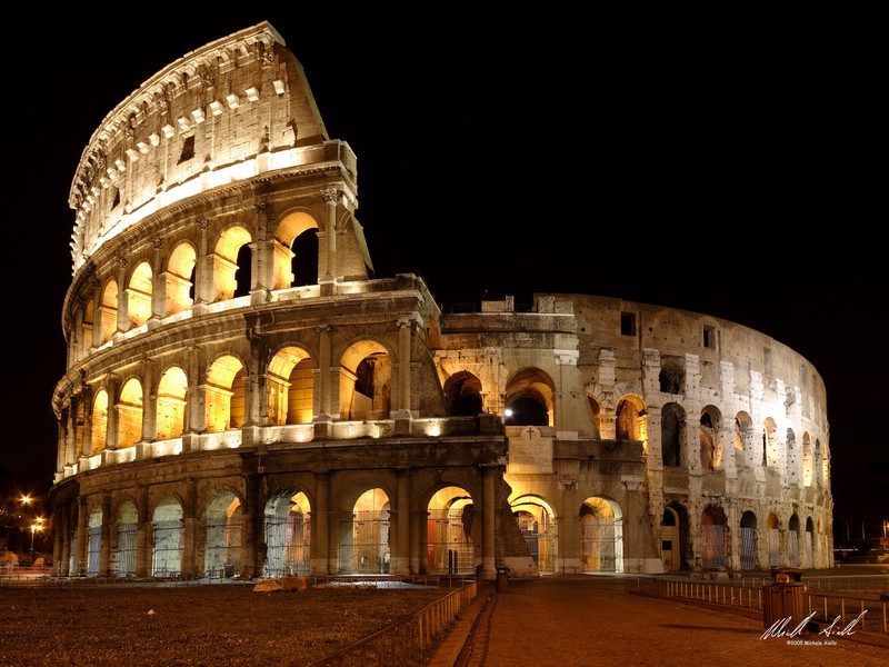 colosseo by night author aiello michele