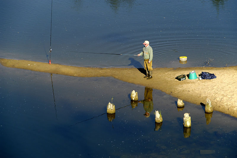 fishing on river loire author dupin eric
