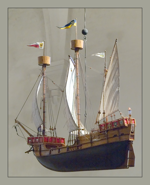 model ship from the old church in porvoo author m mitts hkan