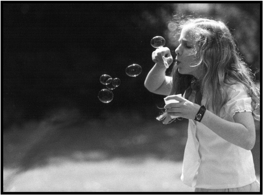 little girl blowing bubbles author roeleveld cor