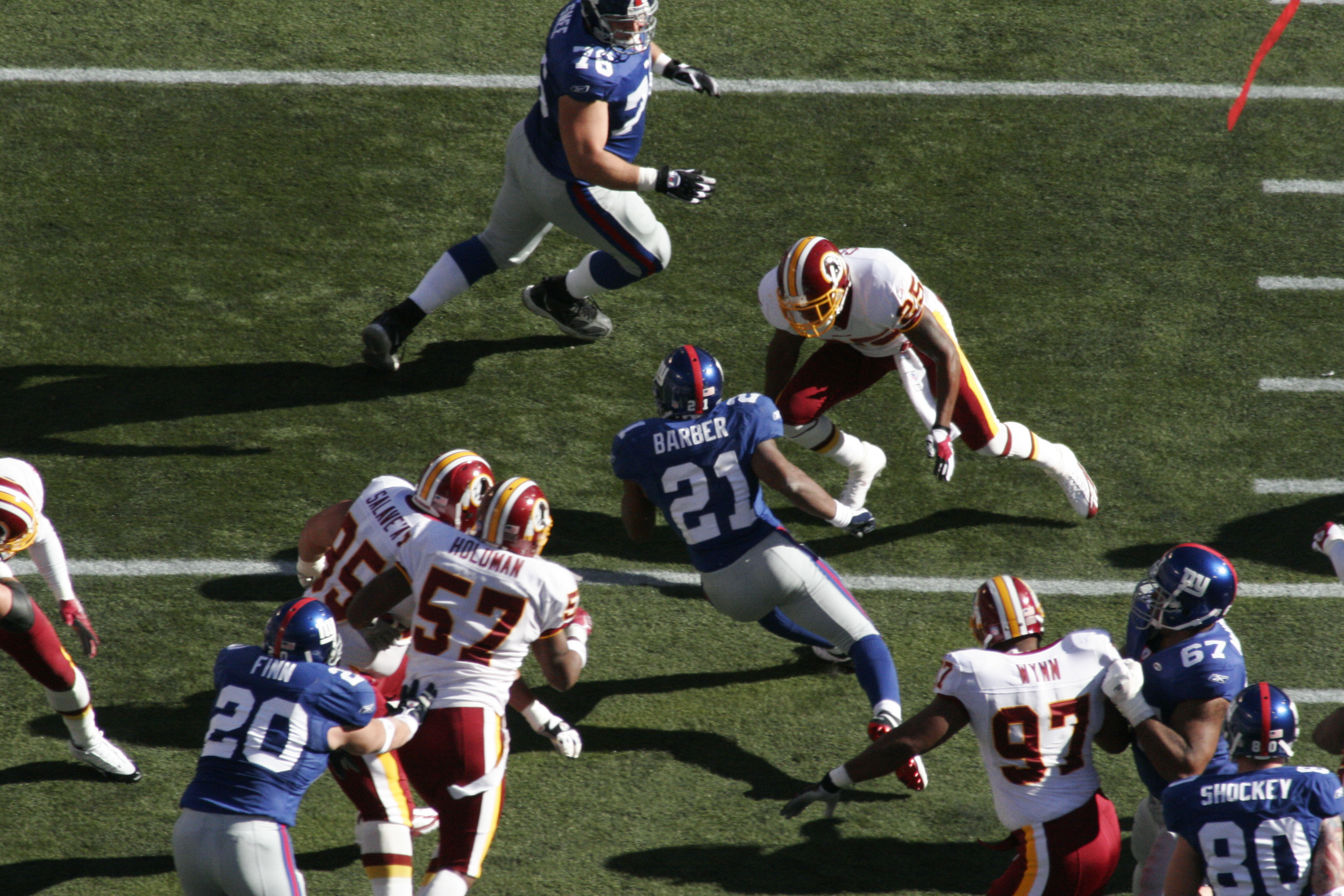 tiki running like only he can giants v redskins relyea blair