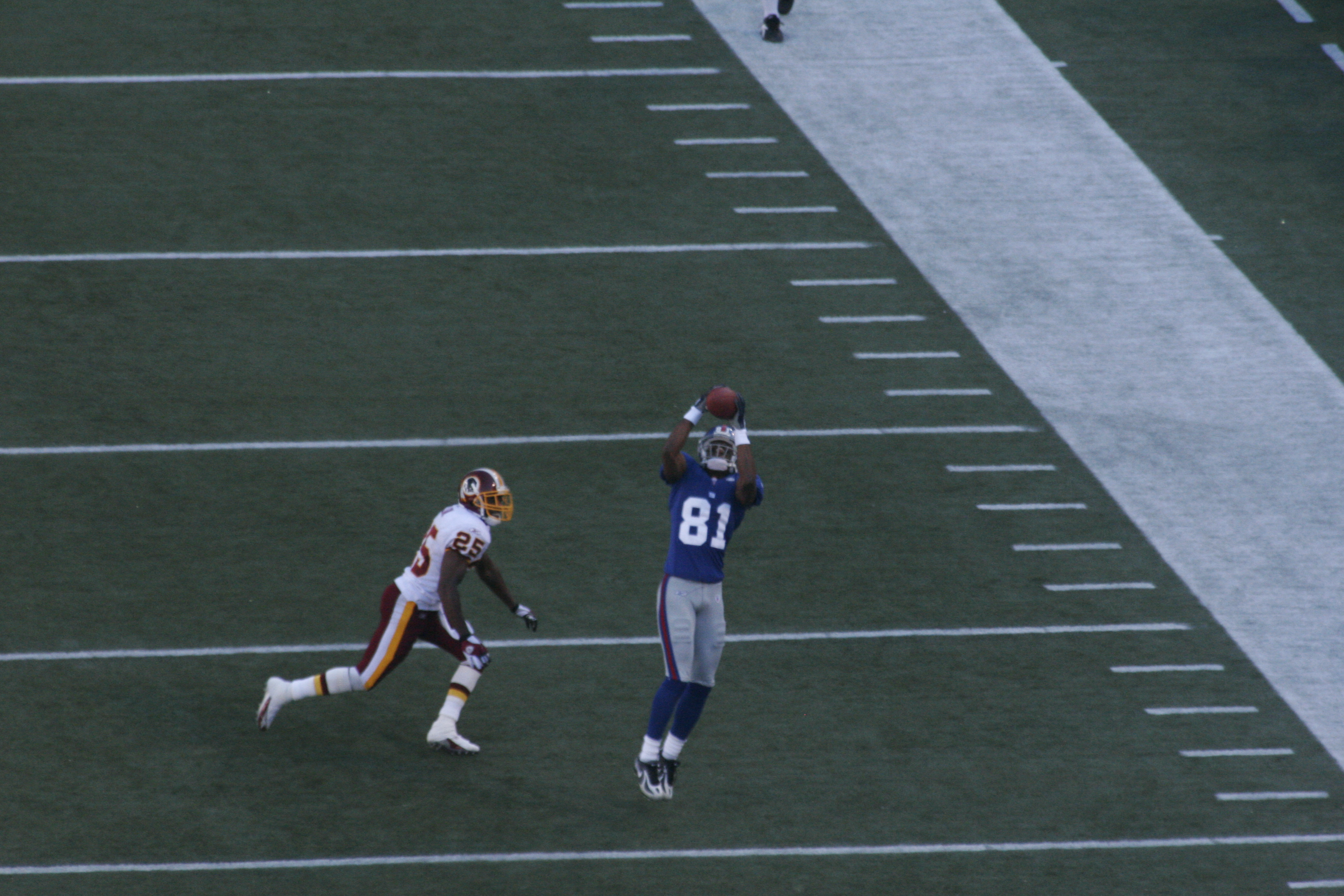 toomer earning his pay giants v redskins author relyea blair