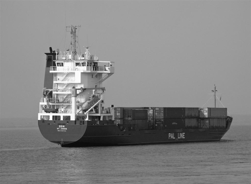 container vessel odin on the river humber converte evans mick