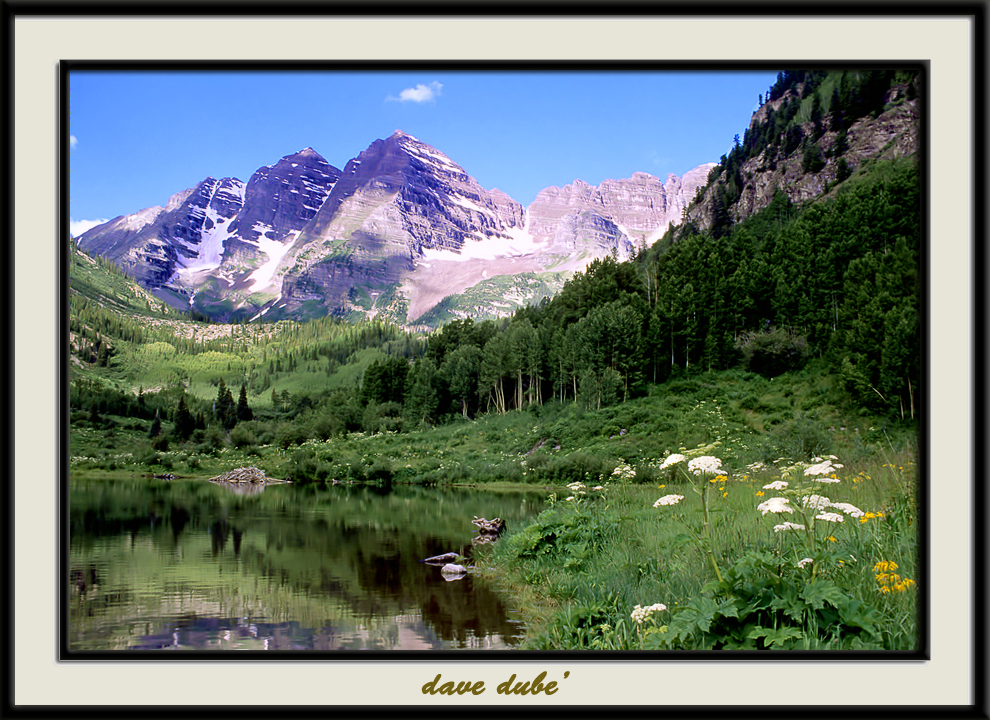 maroon bells color author dube dave