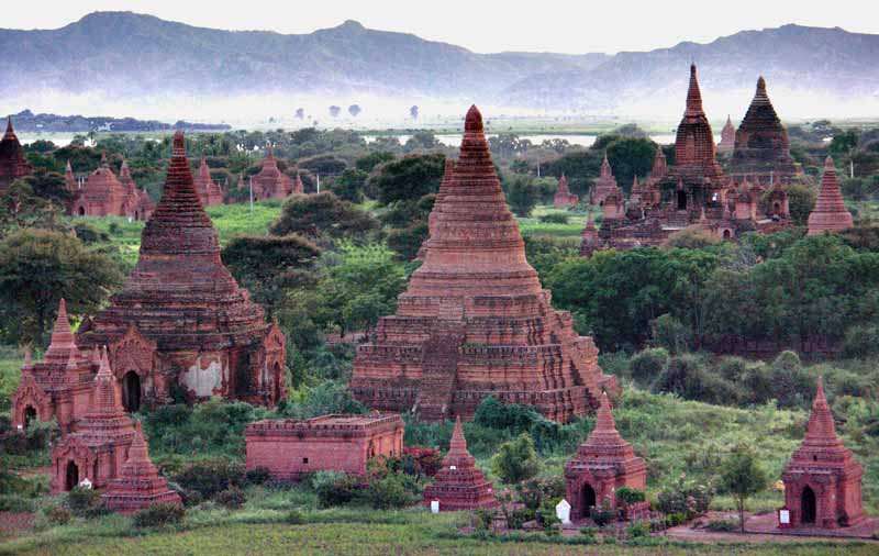 temples on bagan river plain author downs jim