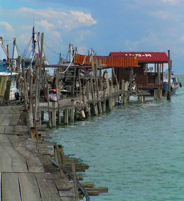 teluk bahang village pier author downs jim